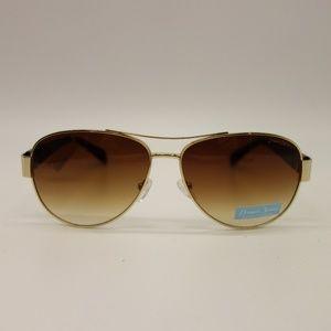 NEW DRAPER JAMES  Daisy Brown Aviator Sunglasses